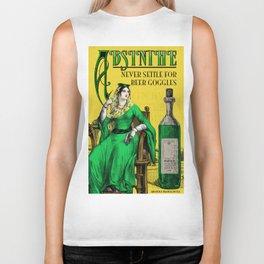 Absinthe Vintage Poster Biker Tank