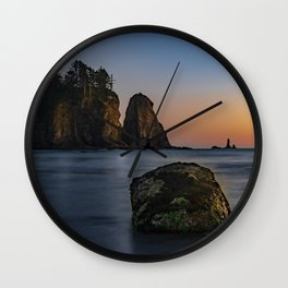 Sea Stacks at La Push Wall Clock