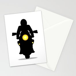 Motorcycle Silhouette Stationery Cards