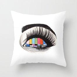 tv eye Throw Pillow