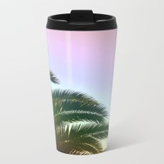 Palm Leaves  - Tropical Sky - Chilling Time Metal Travel Mug
