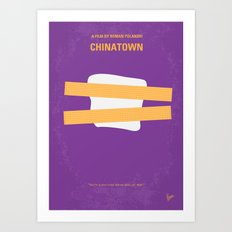 No015 My chinatown minimal movie poster Art Print