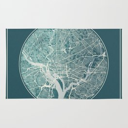 Washington Map Planet Rug