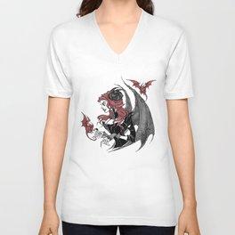 Inktober Demon Unisex V-Neck