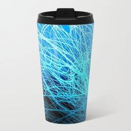 Cyan Linear Explosion2 Travel Mug