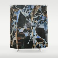 insect Shower Curtains featuring Insect Graveyard by Rachel Hoffman