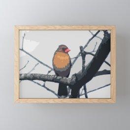 Cardinal Abstract Framed Mini Art Print