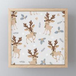 Adorable Reindeer Framed Mini Art Print