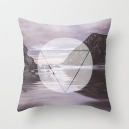 Calm Waters sacred geometry circle triangle Throw Pillow