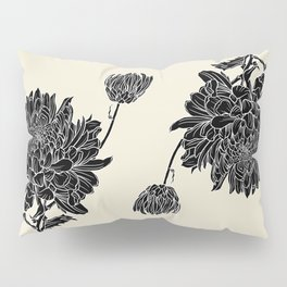 Black Chrysanthemum Pillow Sham