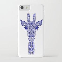 GIRAFFE BLUE iPhone Case