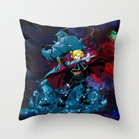 fullmetal alchemist Throw Pillows featuring Two Alchemist by BradixArt