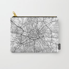 Manchester Map White Carry-All Pouch