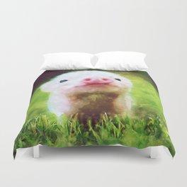 CUTE LITTLE BABY PIG PIGLET Duvet Cover