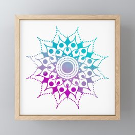 Mandala #2 (Purple Pink Turquiose) Framed Mini Art Print