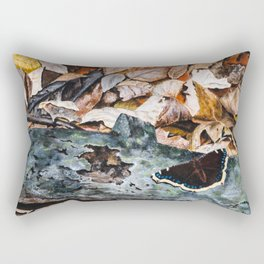 Mourning Cloak Butterfly of the Woods by Teresa Thompson Rectangular Pillow