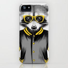 Raccoon Nerd iPhone Case
