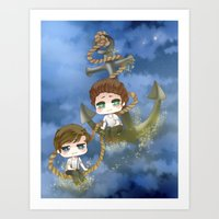 larry stylinson Art Prints featuring Larry Stylinson - Anchor and rope by Yorlenisama