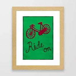 Ride On Framed Art Print