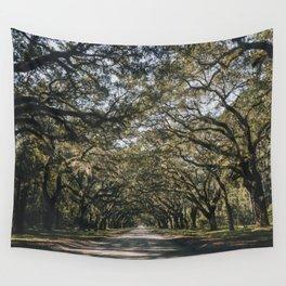 Wormsloe Live Oak Avenue - Savannah II Wall Tapestry