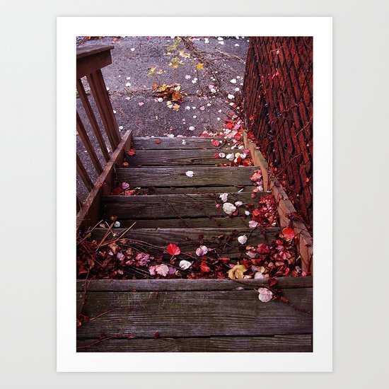 Autumn Stairs Art Print
