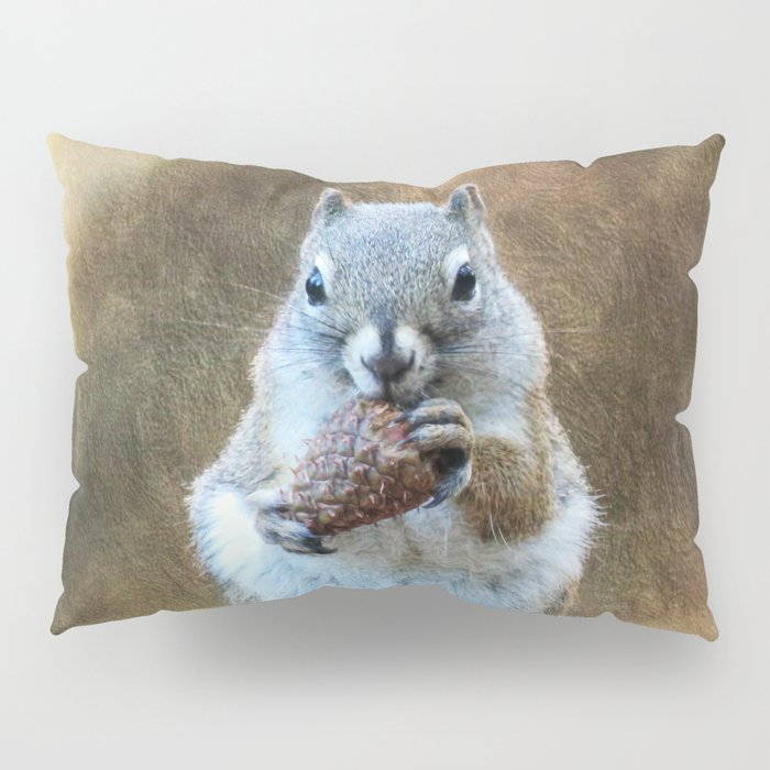 Squirrel with a Pine Cone Pillow Sham