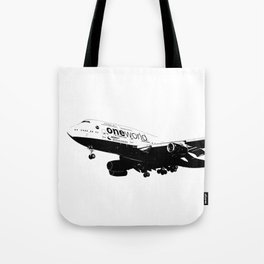 One World Boeing 747 Sketch Tote Bag