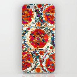 Suzani Flowers Uzbekistan Low Poly Geometric Triangles iPhone Skin