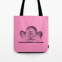 Pink goth tombstone detail Tote Bag