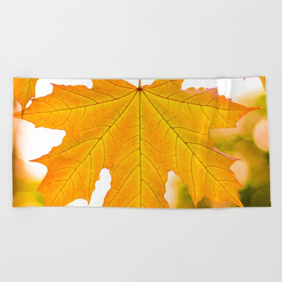 Autumn gold Beach Towel