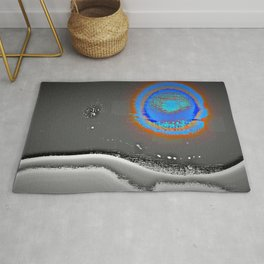 Abstract Landscape Series | Blue Moon Over Night Waters |  | Nadia Bonello Rug