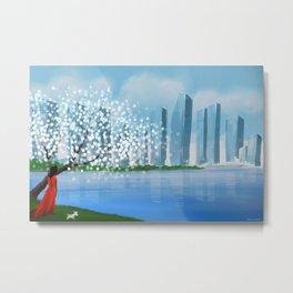 Blossom City Metal Print