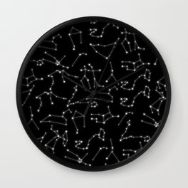 Zodiac Signs Constellations Glowing Stars | Space | Astrology | Cosmos Wall Clock