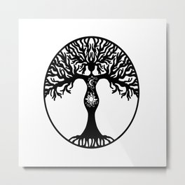 Goddess Tree Metal Print