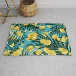 Summer Lemon Twist Jungle #4 #tropical #decor #art #society6 Rug