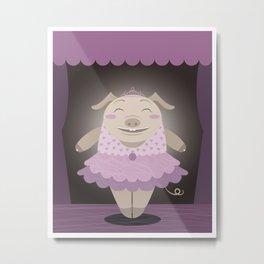 Dancing pig Metal Print