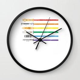 Lightsaber Rainbow Gay Pride Lesbian LGBT Community Gifts Wall Clock