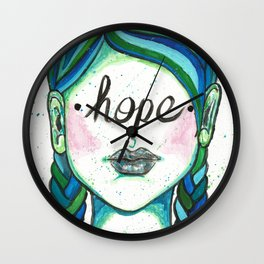 """Words Within: """"Hope"""" Wall Clock"""