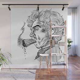 London Smoking Habit (Lineart) Wall Mural