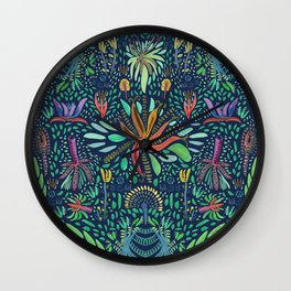 Tropical garden Wall Clock