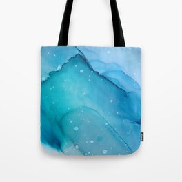 Ocean Spray Fluid ink Abstract Painting Tote Bag