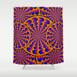 Hacking Visual System Optical Illusion Shower Curtain