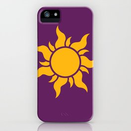 Tangled Rapunzel Sun Logo - Corona Symbol iPhone Case