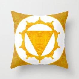 Energy Center Abstract Chakra Artwork Throw Pillow