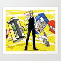 durarara Art Prints featuring Heiwajima Shizuo 3 by Prince Of Darkness