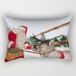 Christmas, Navidad, Noel, Moose Rectangular Pillow