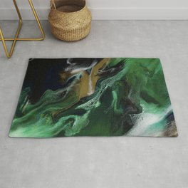 Trimeresurus Stejnegeri - green fluid abstract Resin Art Rug