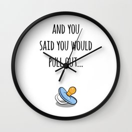Oops Its a boy, funny pregnancy announcement Wall Clock