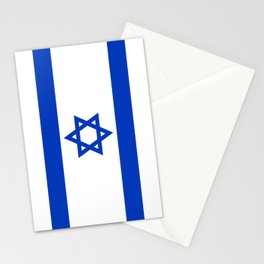 National flag of Israel Stationery Cards