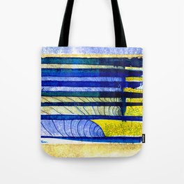 WAY OF THE OCEAN - Yellow & Blue Waves Tote Bag